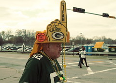 Fan#1 (RICHARD OSTROM) Tags: summer football fight war afternoon packers geeks gameday greenbay fans lambeau greenbaypackers