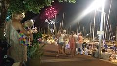 Feu d'artifice 14 juillet 2015 Port des mouettes Evian