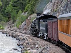 DSNG486CurvesSilvertonCO6-13-15 (railohio) Tags: colorado silverton trains narrowgauge riogrande d90 durangosilverton dsng 061315 trains75