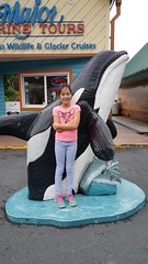 Ella and her Orca friend