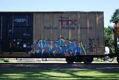 Reser (quiet-silence) Tags: railroad art train graffiti railcar etc boxcar graff freight rtl tbox ttx dst fr8 reser tbox663349