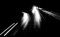 night lights (samirart) Tags: lights light cars car movement blackandwhite bw black white cold winter captured view explore evening emotion endless esthetic beautiful detail reflection art artistic pretty travel fun outdoor illusion focus contrast photo photography abstract architecture dark galerie life