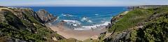 _1030333 (bl!kopener) Tags: portugal panasonic lumix dmc fz1000 dmcfz1000 panorama landscape 2016 4x1 beach sea ocean coast coastline wave water algarve praia odeceixe