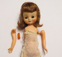 Poor Betsy! (Foxy Belle) Tags: betsy mccall doll tiny vintage 8 repair tlc arm restring rubber band how string fix tutorial
