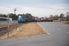 Heading for a Meet (ajketh) Tags: ameristeel lc lancaster chester sc south carolina emd gp382 3821 gp38ac 2829 gondolas 14 12 freight train railroad fort lawn