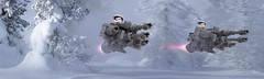 Assault on Starkiller (Cyh Naan) Tags: lego starwars firstorder speederbike stormtrooper winter
