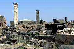 BUSRA AL-SHAM (BOSRA)  (Daraa-Syria). 2008. Ruinas romanas y mezquita Al Omari (sVIII-XIII). (Carlos Sieiro del Nido) Tags: bosra syria siria ruinas