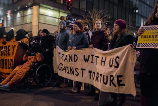 Witness Against Torture Holds a Protest Outside the Presidential Inauguration of Donald Trump