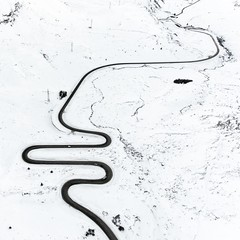 Winter trail (Chris Herzog) Tags: ifttt 500px aerial road windy drone switzerland bird view covered snow winter dji