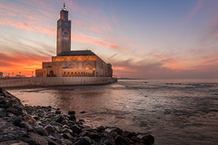Casablanca Sunset (davecurry8) Tags: casablanca morocco hassanii mosque sunset hdr night