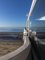 blue_horizon_5794-050117 (Peadingle) Tags: blue sea sky glass window refelction burnhamonsea somerset beach pier wall curve