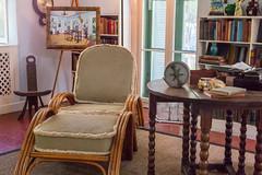 Hemingway's Study (romanboed) Tags: study stilllife availablelight longe chair ernest hemingway writer author museum leica m 240 sumilux 50 usa florida key west travel tourism america