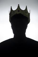 Beyond A Mortal (thefeverhead) Tags: silhouette blackandwhite bnw highkey flashphotography portrait crown king