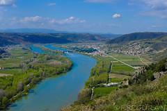 Le Rhone (fredomarseille) Tags: rhone drome valence tournon france fleuve eau péniche débit panorama vin