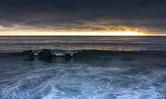 Porthleven ... (Bruus UK) Tags: porthleven cornwall sea darkness moody waves swell shore coast harbour sky seascape wave rollers horizon sunset stormy clouds overcast dusk evening winter