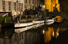 Bruges Canals Explored 18/1/2017 (David Chennell - DavidC.Photography) Tags: belgium bruges brugge canal night boats reflection