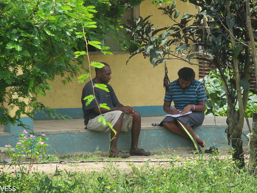 Survey team conducting survey