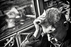 Nap (mr.reverend) Tags: nap sleep elderly man people tram travel fatigue street streetphotography urban candid city citylife rome italy blackandwhite bw monochrome