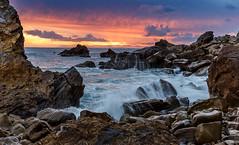 cdm1-17-31 (jwkch88) Tags: corona del mar wave splash golden hour california clouds