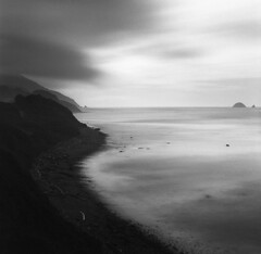 Since the first of ages (Zeb Andrews) Tags: hasselblad500c film mediumformat 6x6 kodaktrix oregon pacificnorthwest landscape filmisnotdead oregoncoast pacificocean longexposure ndfilter