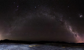 The Other Side - back end of the Milky Way over Sullivan's Rock, Western Australia