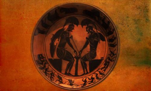 "Petteia - Ludus Latrunculorum  / Iconografía de las civilizaciones helenolatinas • <a style=""font-size:0.8em;"" href=""http://www.flickr.com/photos/30735181@N00/32481383626/"" target=""_blank"">View on Flickr</a>"
