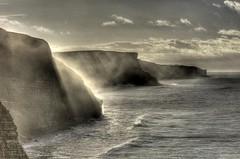 Stranger on the shore (pauldunn52) Tags: temple bay glamorgan heritage coast wales sun rays light sea spray