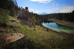 Third Lake Vista (Steve Boer) Tags: mountain lake canada mountains landscape scenery jasper alberta valleyofthefivelakes