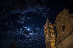 Viterbo (Daniele Veglianti) Tags: sky italy moon clouds italia luna chiesa campanile cielo duomo viterbo caffeina