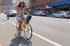 New York guys love to skateboard behind girls on bikes, hoping their dresses will get shorter and shorter ...