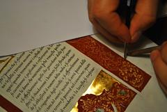 Decorazione del XII capitolo del libro di Qohlet (ziggiotti ivano (Ziggy Stardust)) Tags: illumination calligraphy calligrafia miniatura oro manoscritto italico pergamena cancelleresca pennadoca oroinconchiglia inchiostroferrogallico