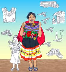 luiaurel@yahoo.com (UllisesJavier) Tags: color art illustration digital photoshop mujer arte guatemala dibujo ilustracion ilustrador indigena centroamerica infografia realista figurativo