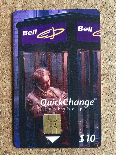 telephone call card payphone pass callcard phone card bell quickchange 10 canada - Payphone Calling Cards