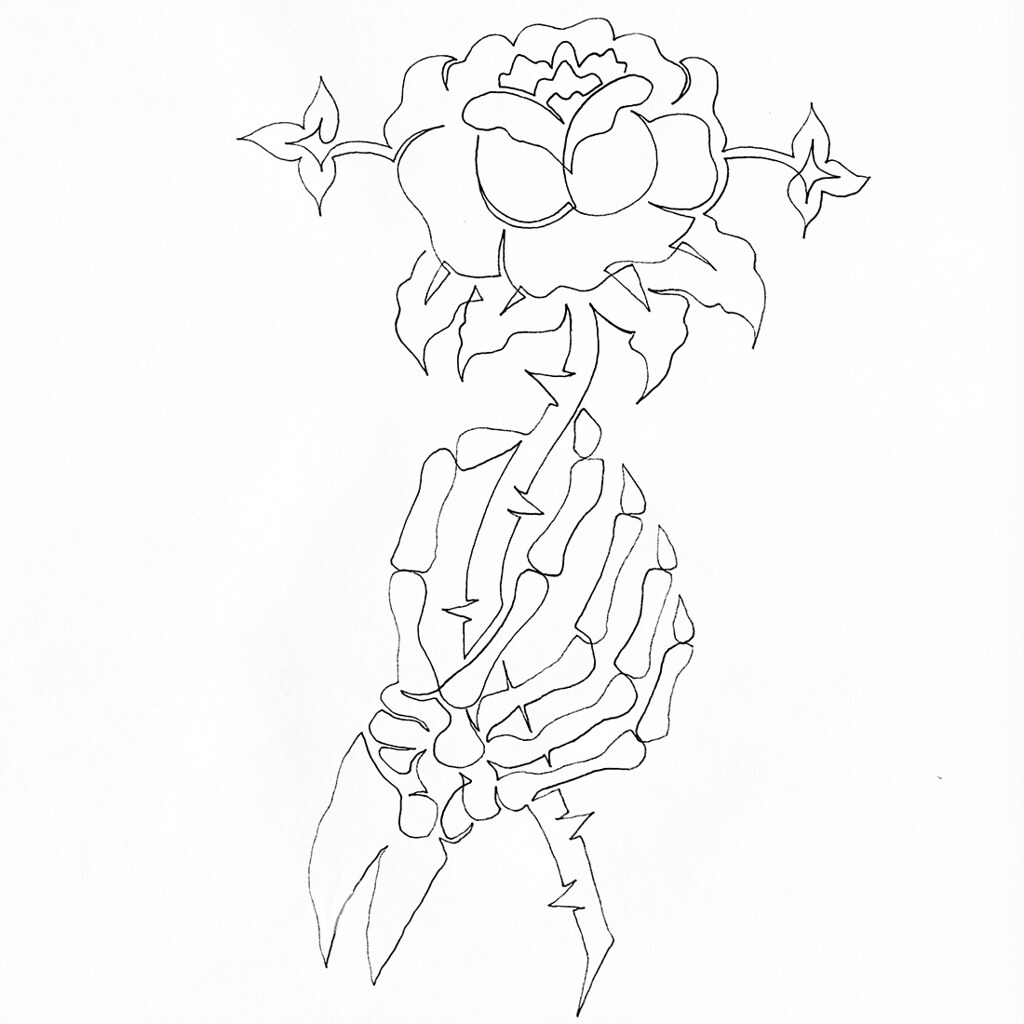 The world 39 s best photos of flowers and thorny flickr for Hand holding a rose drawing