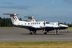 King Air, ZK456/P and ZK455/O (WestwardPM) Tags: cornwall beechcraft beech raf kingair royalairforce newquayairport newquaycornwallairport zk456 zk455