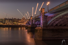 Light show (Arek Adeoye) Tags: longexposure bridge london trails lighttrails lightshow lightstreaks ligths southwarkbridge