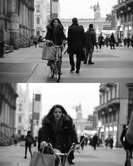[La Mia Citt][Pedala] (Urca) Tags: portrait blackandwhite bw bike bicycle italia milano bn ciclista biancoenero mir bicicletta 2015 pedalare dittico nikondigitale ritrattostradale 75565