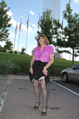 new67954-IMG_7741t (Misscherieamor) Tags: tv feminine cd tgirl transgender mature sissy tranny transvestite crossdress ts gurl tg travestis travesti travestie m2f xdresser tgurl sheerblouse showingslip polkadotpleatskirt