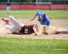 Easthampton Baseball (Peter Camyre) Tags: pictures school sports photography high flickr baseball action massachusetts tag bat dive first slide images player east dirt peter american western playoffs players mass dust sliding base legion rundown longmeadow easthampton basaball camyre ef100400mmf4556lisiiusm