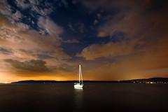 Sailboat (mudpig) Tags: nyc newyorkcity longexposure cloud newyork storm skyline night river boat license hudsonriver irvington gettyimages nuevayork cidadedenovayork mudpig stevekelley      lavilledenewyork stevenkelley licensenow
