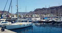 (Mateusz Mathi) Tags: summer water port marina de puerto spain yacht mini lg gran g2 canaria mogan woda mateusz 2015 mogn mathi hiszpania jacht wyspy kanaryjskie