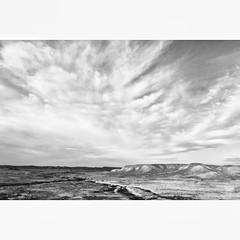 morning drive through the desert (wojconner) Tags: life travel sky blackandwhite bw usa art mobile landscape desert streetphotography roadtrip bnw alternative tonal iphone