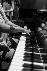 Magda jamming (Z!SL) Tags: portrait bw music monochrome female zeiss portraits dark lowlight hands keyboard dof bokeh sony piano m depthoffield instruments carlzeiss mirrorless bokehwhores sonyphotographing emount minoltaemount sel24f18z sel24f18 sonnarte1824 nex5r sonnar2418za
