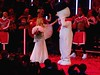 We're Walking In The Air.......... (law_keven) Tags: kylie kylieminogue snowman thesnowman walkingintheair kyliechristmas royalalberthall music concert livemusic christmas gig