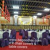 permanent flame fire retardant poly chair covers and table covers. www.begoodtex.com (begoodfrtex) Tags: flikr