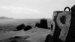 59 (ThetaFoto) Tags: monochrone blackandwhite black fog danmark beach schwarzweiss thetafoto 59 creative outdoor thyboron