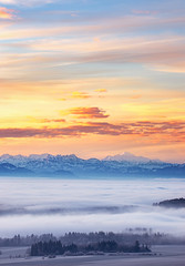Layers of Alps - Hauts-Geneveys - Switzerland (Rogg4n) Tags: vuedesalpes mountain montagne sunrise dawn rain color switzerland neuchâtel panorama goldenhours sky clouds landscape alps canoneos80d sigma50100mmf18dchsm morning autumn fall peak snow sumit europe mounts valley swiss landmark outdoor suisse schweiz light landschaft wonderland nature dreamscape paysage montblanc massifdumontblanc hautsgeneveys fog seaoffog forest tree swissalps