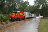 Downpour on the Branch (ajketh) Tags: fnor fcen 50 emd rebuild cf7 locomotive freight local ssog silver springs ocala gulf branch hoppers covered downpour rain fl florida