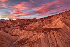 Red and Gold (Kirk Lougheed) Tags: california deathvalley deathvalleynationalpark goldencanyon usa unitedstates badlands canyon landscape nationalpark outdoor red sunset