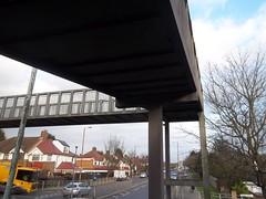 Under Footbridge (doojohn701) Tags: bridge pedestrian uk footbridge se9 eltham tree